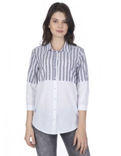 Camisa Sir Raymond Tailor para mujer - colorblock en negro