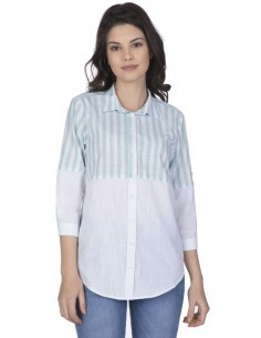 Camisa Sir Raymond Tailor para mujer - colorblock en menta