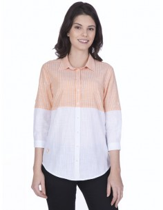 Camisa Sir Raymond Tailor para mujer - colorblock en orange
