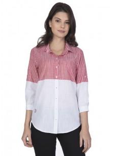 Camisa Sir Raymond Tailor para mujer - colorblock en rojo