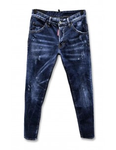 Dsquared jeans con remiendos - Bluedenim