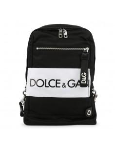 Dolce Gabbana mochila en color negra con logotipo
