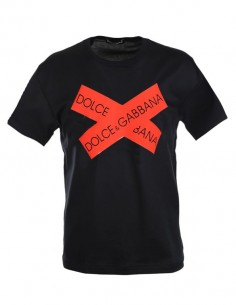 Camiseta Dolce & Gabbana parches - negra