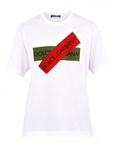Camiseta Dolce & Gabbana parches - blanca