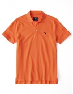 Polo Abercrombie manga corta para hombre - naranja