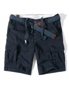 Bermudas de AF con bolsillos cargo para hombre - Marino