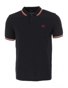Polo básico hombre Fred Perry - black/red