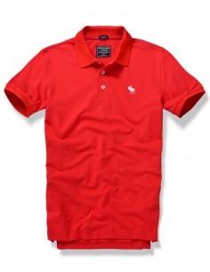 Polo Abercrombie manga corta logo pequeño - rojo
