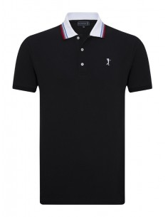 Polo Sir Raymond Tailor SEED para hombre color negro