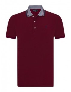 Polo Sir Raymond Tailor SEED para hombre color burdeos
