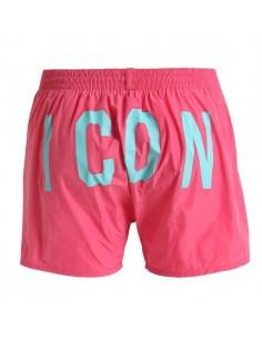 Bañador dsquared logo ICON - rosa