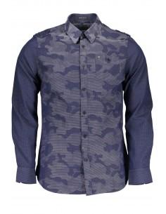 Camisa Guess para hombre con estampado militar