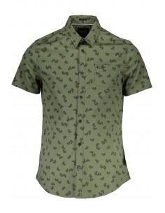 Camisa Guess para hombre con estampado floral - kaki