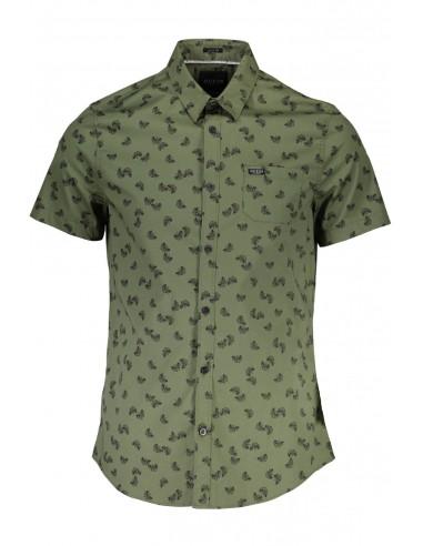Estampado Camisa Hombre Para Guess Floral Kaki Con tsrhQCxd