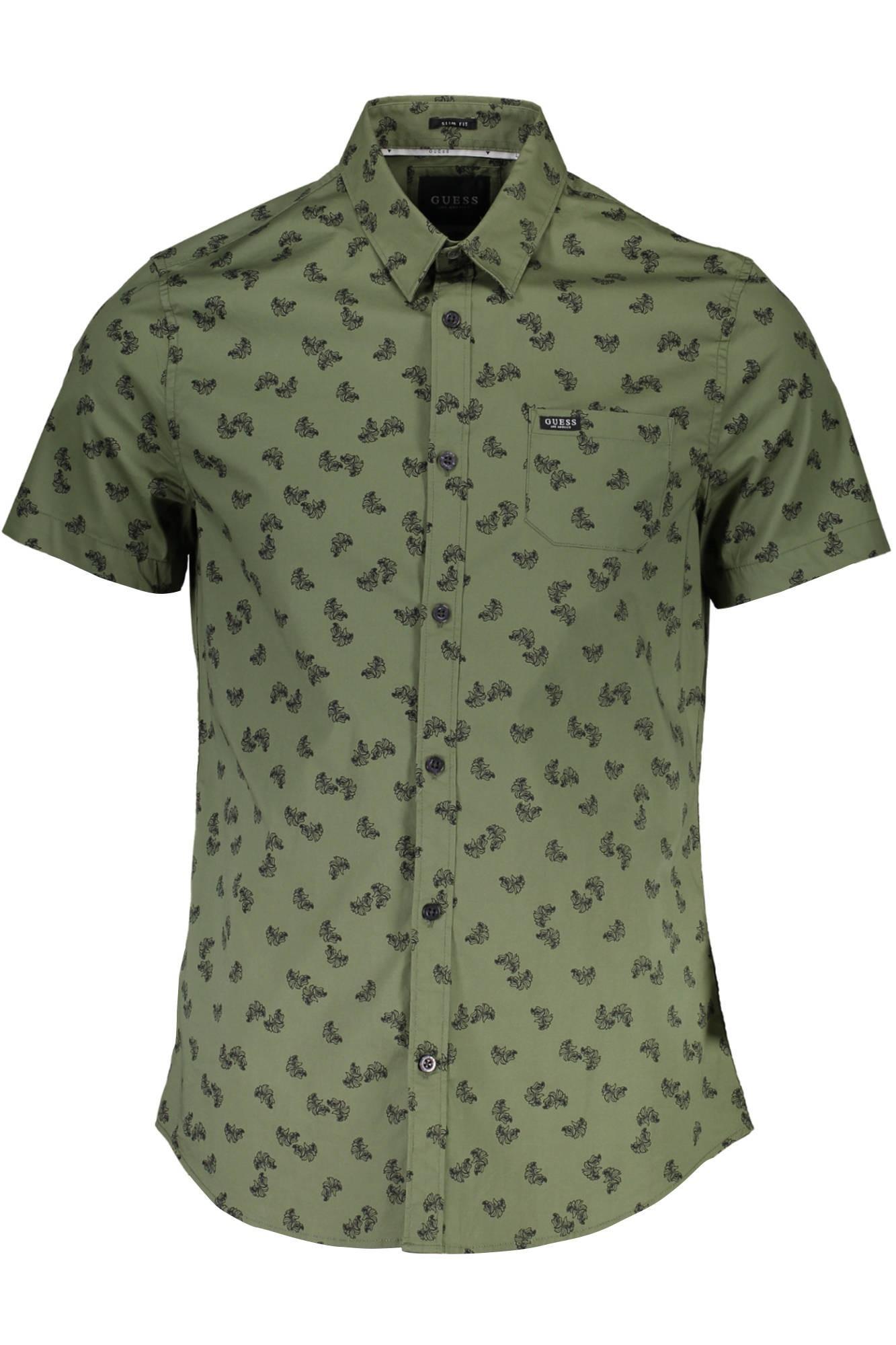 nueva colección super popular obtener nueva Camisa Guess para hombre con estampado floral - kaki