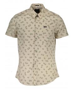 Camisa Guess para hombre con estampado floral - beige