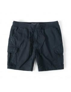 Bermudas de AF con bolsillos cargo y cintura elástica - navy