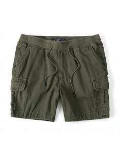 Bermudas de AF con bolsillos cargo y cintura elástica - kaki