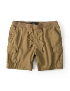 Bermudas de AF con bolsillos cargo y cintura elástica - beige