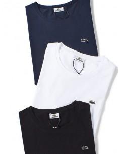 Pack 3 camisetas Lacoste para hombre - marino, blanco y negro