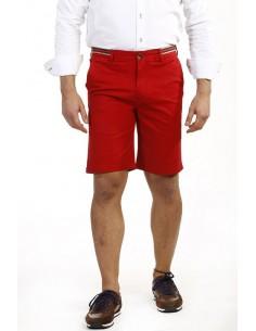 Time of Bocha bermudas para hombre color rojo