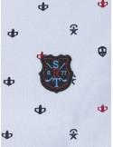 Polo Sir Raymond Tailor estampado para mujer - blue