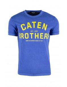 Camiseta dsquared washed - royal blue