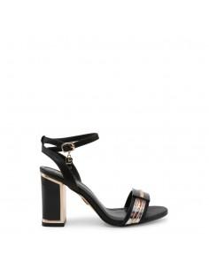 Sandalias Laura Biagiotti modelo Calf para mujer color negro