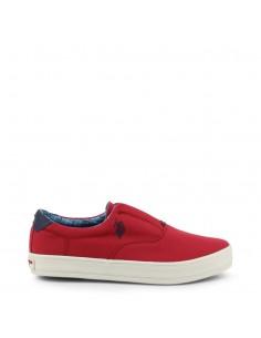 Zapatos Slip-on U.S. Polo para hombre color rojo
