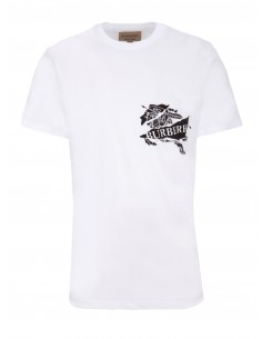 Burberry camiseta unisex maxilogo - blanca
