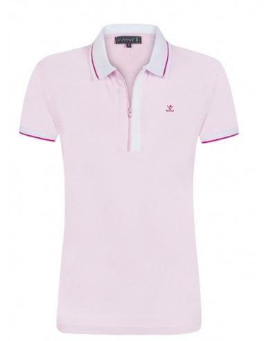 Sir Raymond Tailor polo de mujer con cremallera - rosa claro