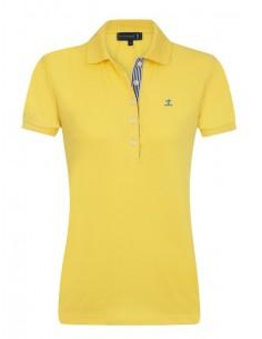 Sir Raymond Tailor polo de mujer detalle cuello - amarillo