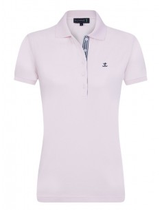 Sir Raymond Tailor polo de mujer detalle cuello - baby pink