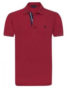 Polo Sir Raymond Tailor para hombre con detalles - rojo