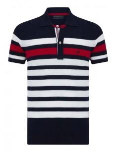 Polo Sir Raymond Tailor para hombre special edition - marino, crudo y rojo