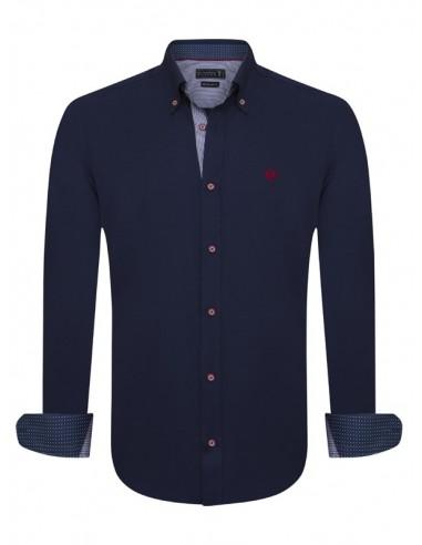 Sir Raymond Tailor camisa para hombre WRAPPED - navy