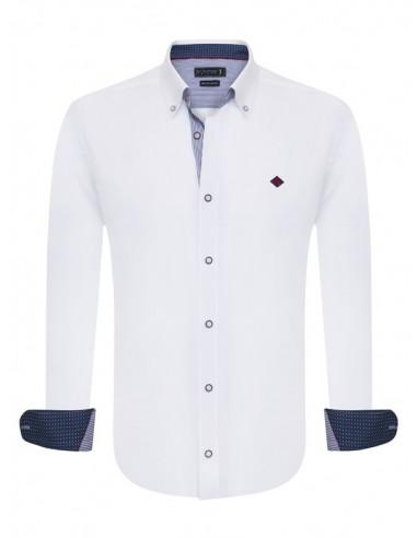 Sir Raymond Tailor camisa para hombre WRAPPED - blanca