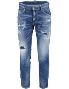Dsquared jeans para hombre rasgados - azul