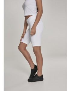 Leggings cortos Urban Classics para mujer - blanco