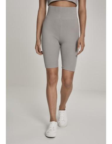 465937c81 Leggings cortos de tiro alto Urban Classics para mujer - gris