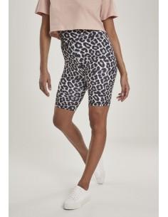 Leggings cortos de tiro alto Urban Classics para mujer - leopardo