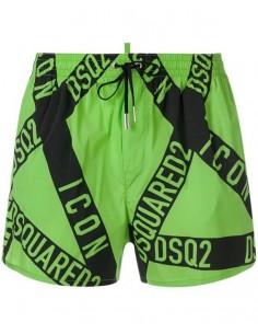 Bañador dsquared logomania - green