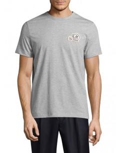 Camiseta Moncler para hombre con logo icónico - gris