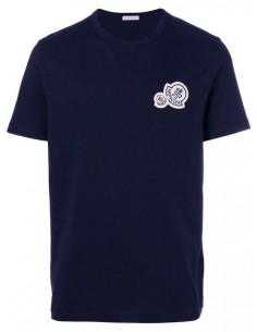 Camiseta Moncler para hombre con logo icónico - marino