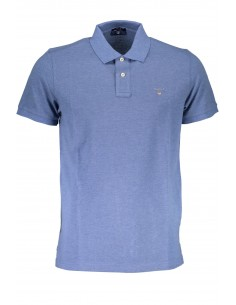Polo Gant manga corta regular color azul jaspeado
