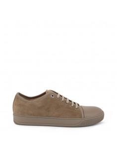 Lanvin zapatillas para hombre suede - marrón taupe
