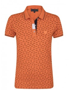 Polo Sir Raymond Tailor estampado para mujer - orange