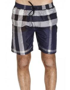 Bañador Burberry para hombre con cintura elástica - cuadros marino