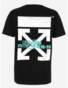 Off White camiseta para hombre - negra