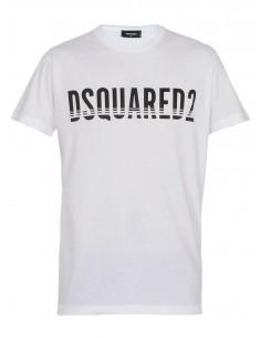 Camiseta dsquared blanca con logo